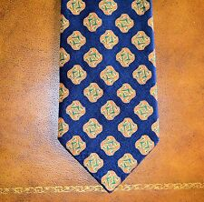 New Vintage and Classic Stefano Ricci Dark Blue and Gold Tie 100% Silk