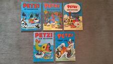 Petzi Comics Konvolut von 5 Raritäten aus den 70er und 80er Jahren