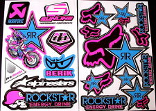 2 Sheets scooter motocross Stickers mx Energy Rockstar BMX Bike b41r11 decal