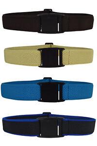 1-15 Yrs Kids / Junior Belts. Adjustable Stretch Belt with Plastic Buckle