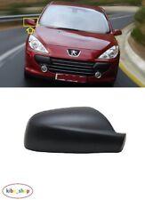 Peugeot 307 2001 - 2007 Nuevo Gorra De Cubierta De Espejo De Ala Negro Derecho O/S Conductor