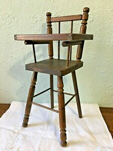 Vintage Antique Cass Toys Wooden Doll High Chair Made in the South USA Play Toy