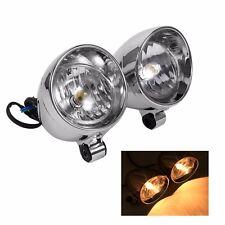 """2pcs Chrome 3"""" Custom Bullet Motorcycle Spot Light Fog Light For Harley Davidson"""