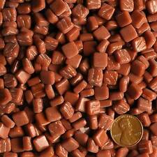8mm Mosaic Glass Tiles - 2 Ounces About 87 Tiles - Burnt Sienna