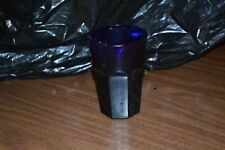 Old Blue Glass- heavy drinking glass