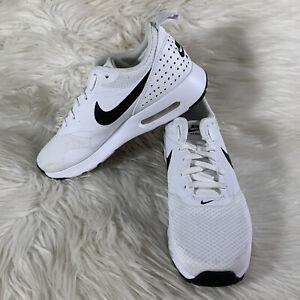 Nike Air Max Tavas White Black Swoosh Women's Size  7.5 Excellent 916791-100
