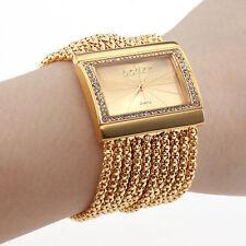 superior a estrenar de la joyería del color de oro de la mujer relojes pulsera