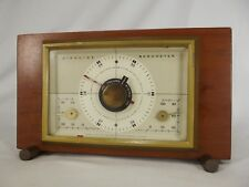 Vintage Barometer Mid Century Airguide Instrument Company Desktop Chicago walnut