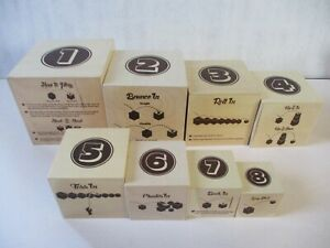 Fat Brain Toys Box & Balls Wooden Toy Lot No Balls XMAS