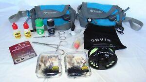 Orvis Clearwater Large Arbor II Fly Reel With Line, Flies, Fishing Supplies+Bags