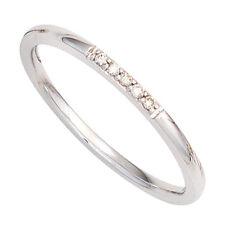Damen Ring 585 Gold Weißgold 5 diamanten brillanten Goldring