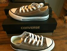 Kids Junior Converse All Star Chuck Taylor Canvas Trainer Charcoal UK Sz 11 NEW