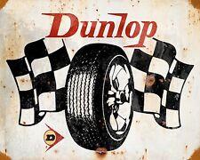 "10"" x 8"" DUNLOP TYRE TIRE CAR MOTORCYCLE GARAGE WORKSHOP METAL PLAQUE SIGN 831"