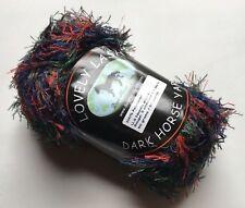 Dark Horse Yarns Lovely Lash #106 Red Green Blue + Eyelash Yarn 50 Gram 92 Yards