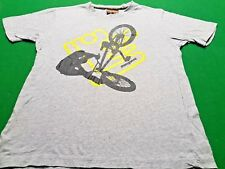 Mongoose Boys Kids Short Sleeve Crew Neck Grey Cotton Top Shirt Size 10
