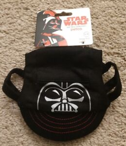NEW Petco Star Wars Pet Hat/Ball Cap Darth Vader Size S/M
