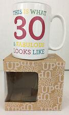 Cheers to 30 Years Mug 30 Fabulous Birthday Wishes White Teal Mug Item 181854