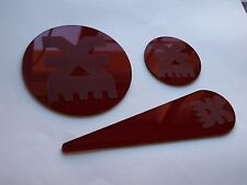 Warhammer 40K 4000 Plastic Blast Templates Pack Khorne Red Transparent Chaos