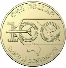 Australia UNC Coin 2020 $1 Qantas Centenary 100 Years (from RAM sachet bag)
