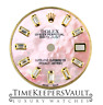 Custom Pink MOP Genuine Diamond Baguette  Dial To Fit Rolex Lady Datejust 26mm