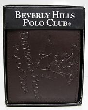 Beverly Hills Polo Club Logo Wallet Brown Bifold Genuine Bonded Leather