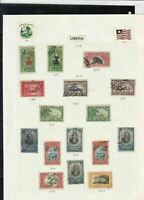 liberia stamps page ref 16905