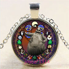Nightmare Before Christmas Cabochon silver Glass Chain Pendant Necklace #6308