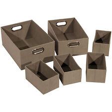 Alpha Rubia Box Grigio - Set di 6 scatole in TNT - scatola porta oggetti