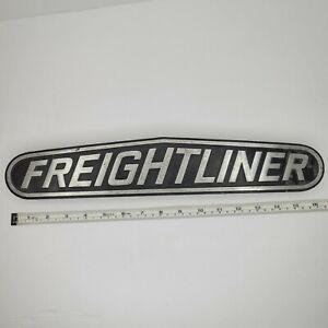 Vintage Freightliner Truck Emblem Decal Badge Shop Art Heavy Metal Rare Find