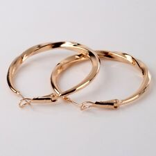 Captivating 18k gold filled noble promise wedding fashion hoop earring
