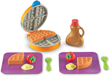 Learning Resources New Sprouts Waffle Time, Pretend Play Food Set, 14 Piece Set,
