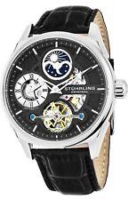 Stuhrling Men's Special Reserve 42mm Black Steel Case Automatic Watch 657.02