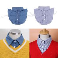 Fake Collar Detachable Dickey Collar Half Shirts Blouse False Collar for Womens