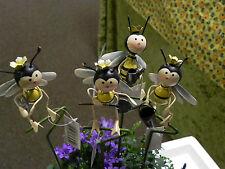 4 Gartenstecker,Bienen,Metall,35cm lg,Imker,Imkerei,Geschenkidee,bee