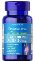 Hyaluronic Acid 20 mg 60 Capsules by Puritan's Pride - FREE SHIPPING!