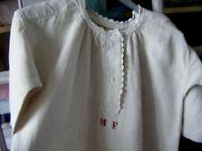 CHEMISE DE GRAND-PERE ANCIENNE EN LIN -vêtements d'époque 3 - «M F»