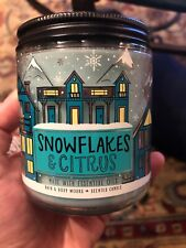 BATH & BODY WORKS SNOWFLAKES & CITRUS SCENTED 1 WICK 7oz CANDLE NEW!