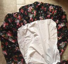 RARE Ralph Lauren Cosette Isadora Black Floral Twin Bedskirt Dust Ruffle(s)