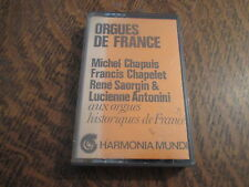 cassette audio orgues de france michel chapuis, francis chapelet, rene saorgin