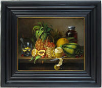 John Edward Hollen (1814-1881) German/American Listed Antique 1859 Still Life