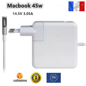 """Chargeur for Apple MACBOOK Air 11"""" 45w 45 w Air Magsafe 1 Adaptateur 11 13pouces"""