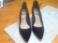 Ladies ASOS Black faux leather court shoes uk7 - nearly new
