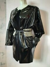 A.F. Vandevorst black PVC jacket kimono raincoat new one size fits most