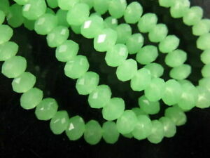 Wholesale 200Pcs Clear Faceted Glass Loose Beads Spacer Rondelle Findings 3x2mm