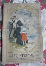 Catalogue Hiver 1911 1912 au Printemps Grand Magasin Paris mode Femme Costume