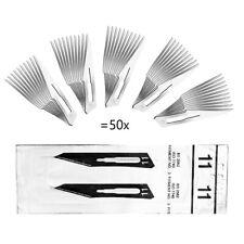 50 Stück Skalpellklingen Figur 11 aus Karbonstahl für Skalpell-Halter - Ersatzkl