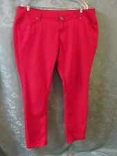City Streets Skinny Jeans Size 19 Red