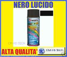 VERNICE NERA COLORE BLACK BOMBOLETTA SMALTO SPRAY MULTIUSO RESISTENTE INTEMPERIE
