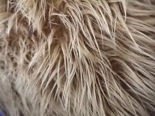CARAMEL FAUX FUR MONGOLIAN FUR LONG PILE HAIR FABRC BY THE YARD