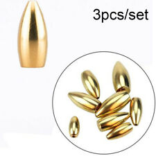 Round Shot Weights Line Sinkers Brass Sinker Fishing Lead fall Hook Connector